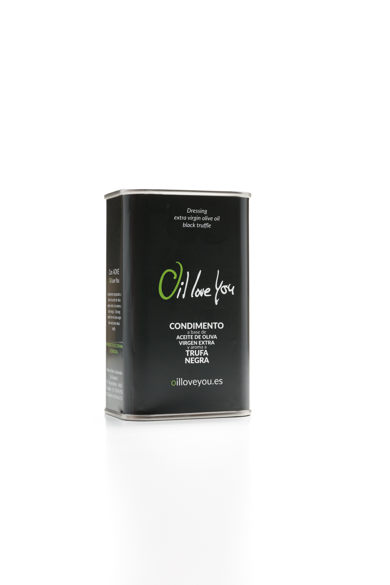 Can of EVOO Oil Love You flavored with black truffle 250 ml oilloveyou (1)