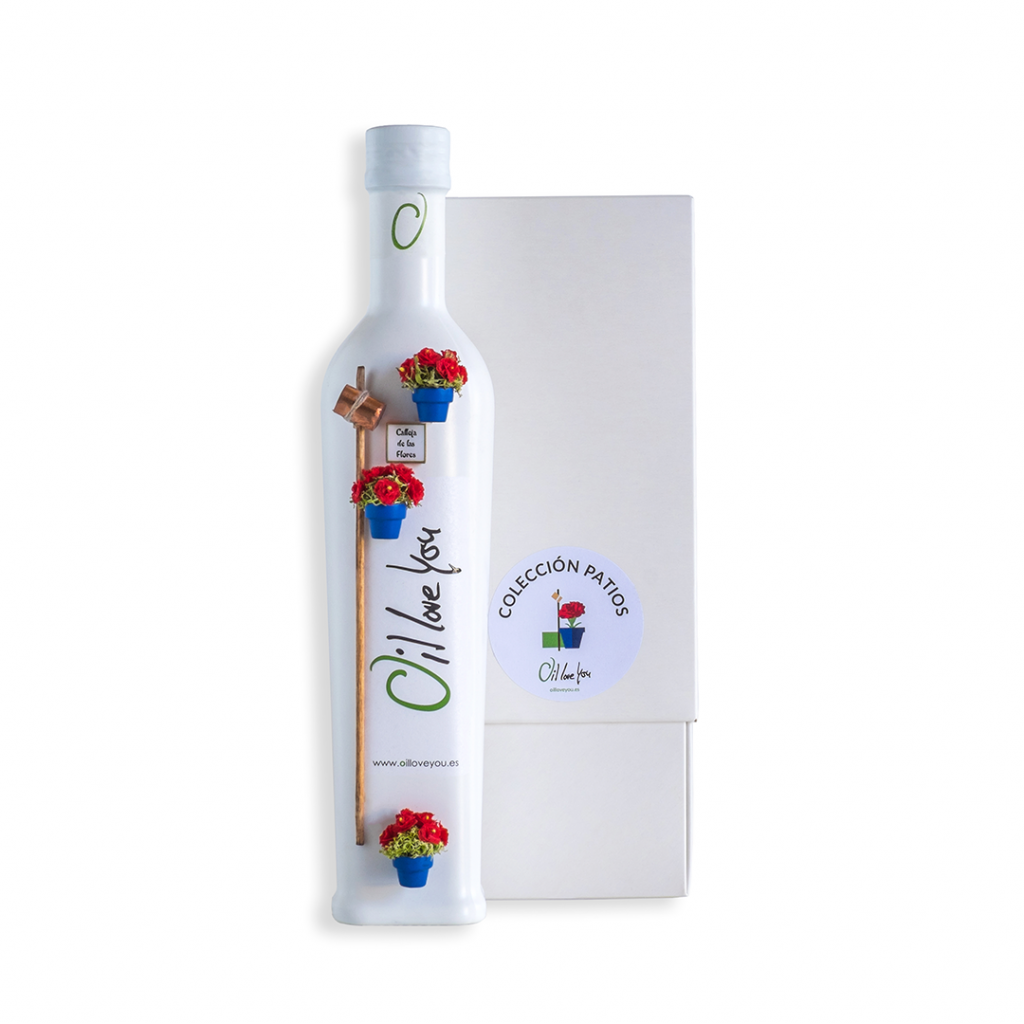 EVOO Bottle PATIOS DE CORDOBA Collection - CAÑA - Oilloveyou TOP