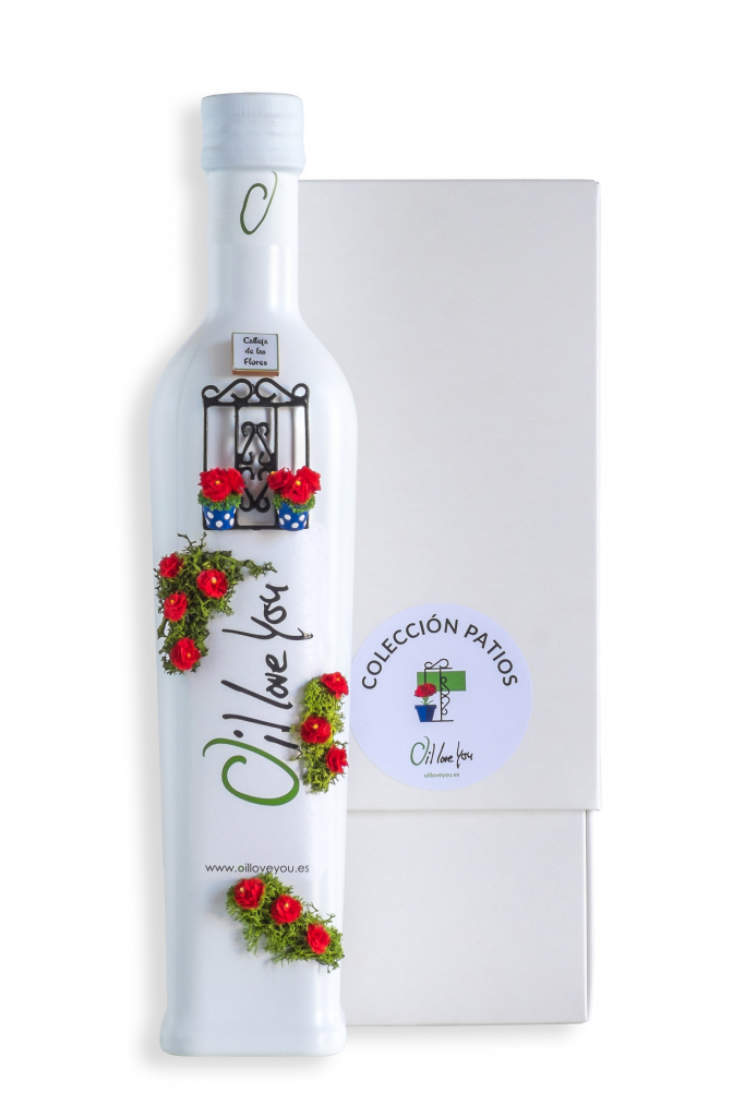 EVOO Bottle PATIOS DE CORDOBA Collection - REJA - Oilloveyou TOP