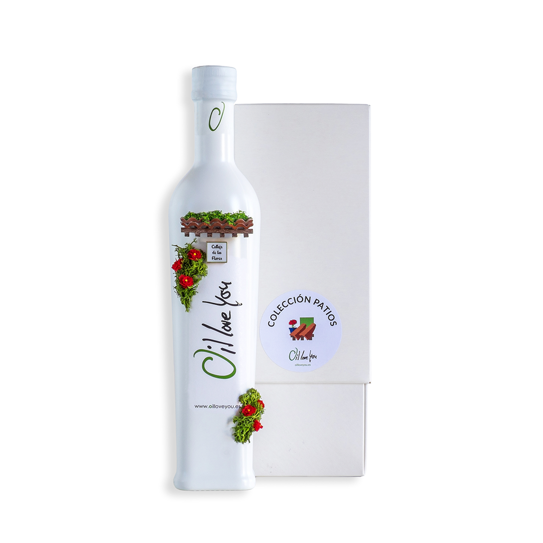 EVOO Bottle PATIOS DE CORDOBA Collection - TEJADO- Oilloveyou TOP