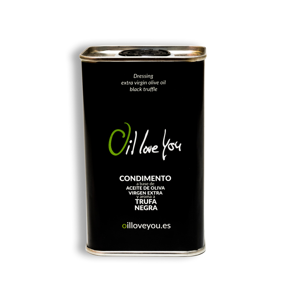 Extra virgin olive oil - 250ml can Trufa Negra aroma - Oilloveyou - FEATURED